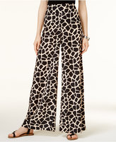 Bar III Giraffe-Print Wide-Leg Pants, Created for Macy's