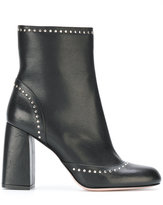 RED Valentino studded chunky heel boots - women - Leather - 36