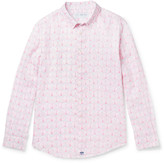 Pink House Mustique - Sea Grape-Print Linen Shirt