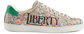 Gucci Men's Ace Liberty floral sneaker