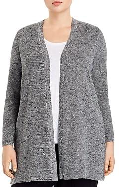 Eileen Fisher Plus Silk & Organic Linen Open Cardigan