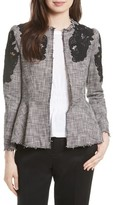Rebecca Taylor Women's Lace Inset Tweed Jacket