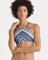 Ralph Lauren Striped Crocheted Bikini Top