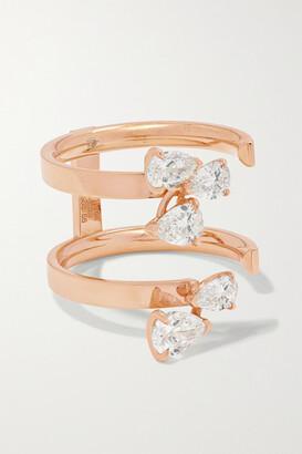 Repossi Serti Sur Vide 18-karat Rose Gold Diamond Ring - 55
