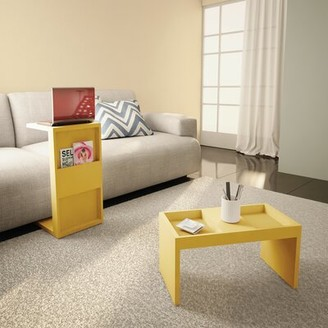 Chisdock 2 Piece Coffee Table Set Hashtag Home Color: Nature