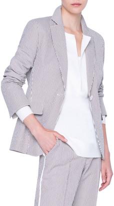 Akris Punto Seersucker Cotton Blazer