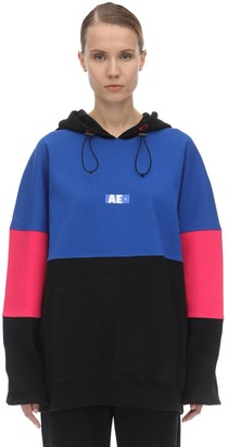 Ader Error Printed Cotton Jersey Sweatshirt Hoodie