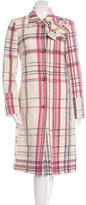 Christian Lacroix Long Plaid Coat