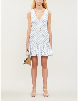 Zimmermann Super Eight polka-print linen dress