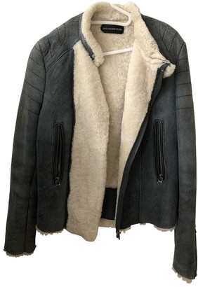 Zadig & Voltaire Blue Shearling Coat for Women