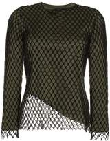 Marques Almeida Marques'almeida net loose fit crew neck top