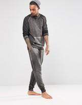 Asos Loungewear Tapered Jogger In Burnout