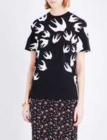 McQ by Alexander McQueen Classic swallow cotton-jersey T-shirt