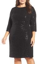 Vince Camuto Plus Size Women's Sequin Sheath Dress