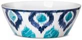 Mudhut Blue Ikat Melamine Serving Bowl