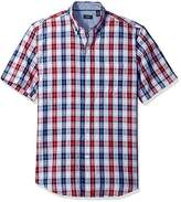 Arrow Men's Short Sleeve Seaside Textured Windowpane Shirt