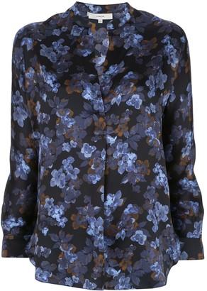 Vince Floral Print Silk Blouse