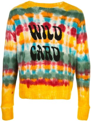 The Elder Statesman Tie Dye Striped Jumper