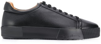 Giorgio Armani leather lace-up sneakers