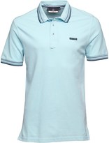 Duck and Cover Mens Acute Polo Aquamarine