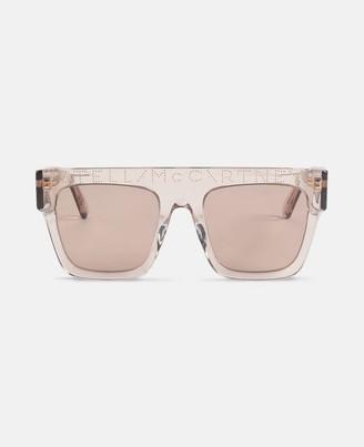 Stella McCartney beige icy ice sunglasses