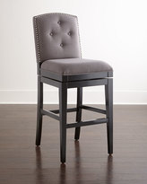 Horchow Pepperton Tufted Swivel Counter Stool