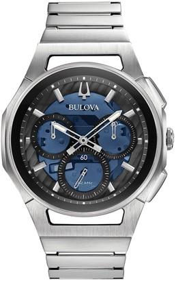 Bulova Men's CURV Stainless Steel Chronograph Watch - 96A205