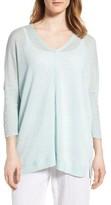 Eileen Fisher Women's V-Neck Sheer Linen Pullover