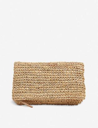 LK Bennett Danika straw clutch