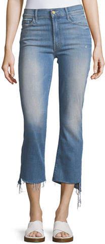 Mother Insider Crop Jeans w/ Step Fray