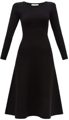 Holiday Boileau Mariah Flared Midi Sweater Dress - Womens - Black