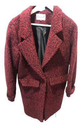 Adolfo Dominguez Burgundy Wool Coats