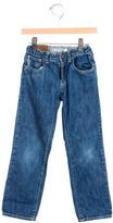 Armani Junior Boys' Mid-Rise Straight-Leg Jeans