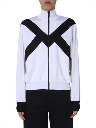 Givenchy Two-Tone Zip-Up Sweater