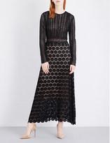 Theory Rabella lace silk dress