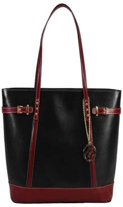 McKlein Usa SERAFINA, Ladies' Tote with Tablet Pocket, Top Grain Cowhide Leather, Black (97565)