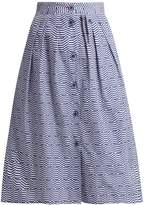 Thierry Colson Riviera geometric-print cotton skirt