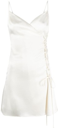 Raquette Lace-Up-Detail Slip Dress