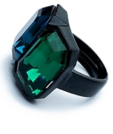 Double Crystal Ring: Emerald