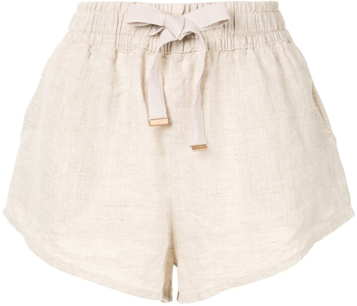 scremare Speciale Allineare  Linen Drawstring Shorts For Women | Shop the world's largest collection of  fashion | ShopStyle