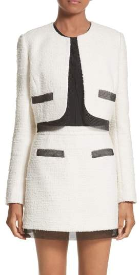 Alexander Wang Chain Mail Trim Crop Jacket