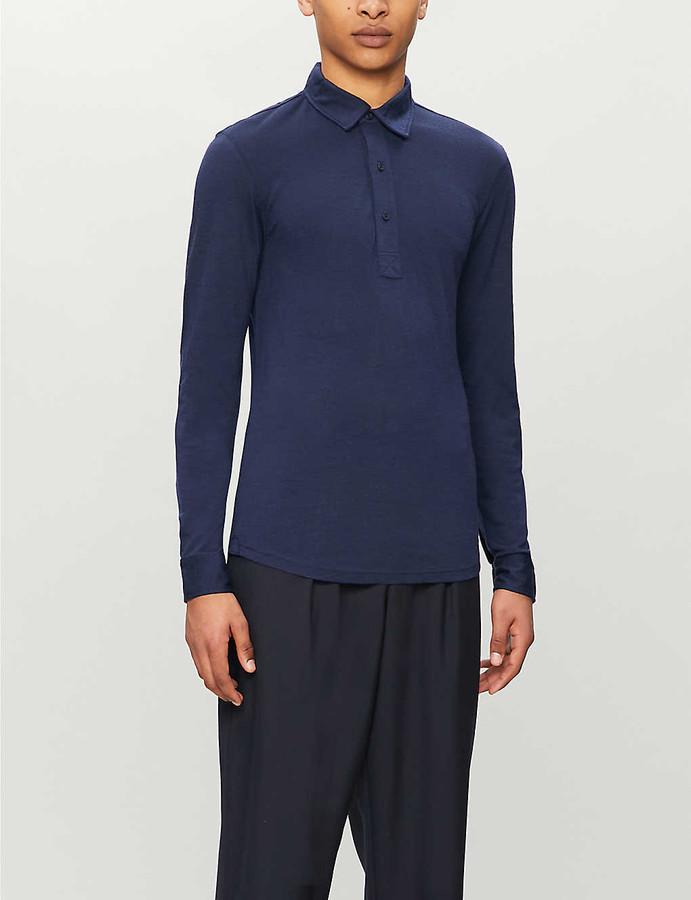 Orlebar Brown Sebastian wool-jersey polo shirt