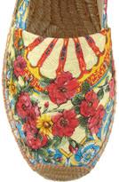 Dolce & Gabbana Printed brocade espadrilles