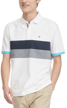 Tommy Hilfiger Men's Classic-Fit Brooks Colorblocked Stripe Polo Shirt