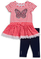 Flapdoodles Girls 2-6x Butterfly Tunic and Leggings Set