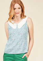 ModCloth Retro Bike Ride Sleeveless Top in Meadow in XL