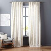 Cotton Canvas Diamond Stripe Curtain - Platinum