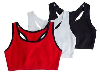 Fruit of the Loom Womens Tank Style Sports Bra, 3-Pack