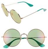 Ray-Ban Women's 55Mm Round Sunglasses - Copper