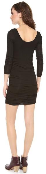 Splendid Long Sleeve Ruched Dress